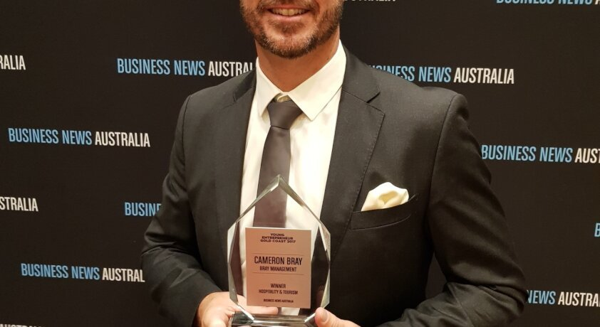 N&J'S CAMERON BRAY NAMED GOLD COAST YOUNG ENTREPRENEUR FOR SECOND YEAR RUNNING