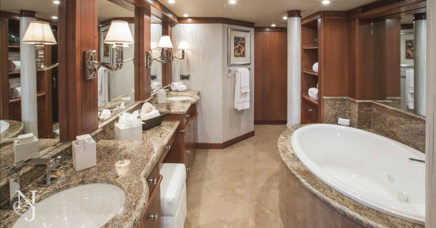 At last yacht for sale heesen luxury motor yacht for Bathroom designs in nepal